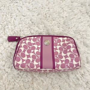 Coach lavender travel pouch